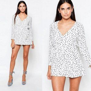 WYLDR In Your Eyes Star Print Romper White Size S